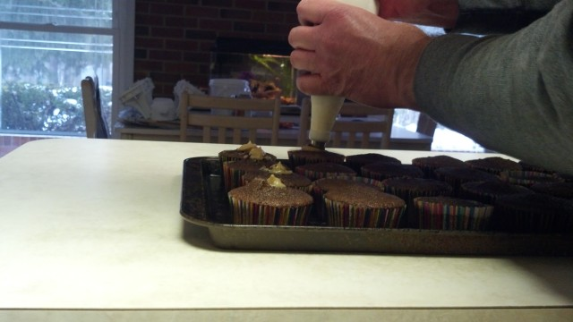 Peanut butter cupcakes 046